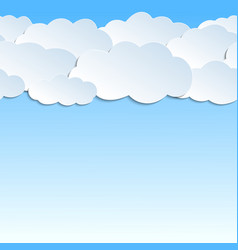 Seamless pattern 3d clouds paper vector