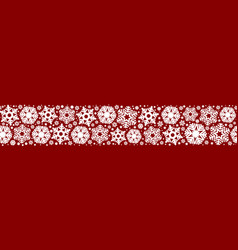 seamless snowflakes on a red background vector image