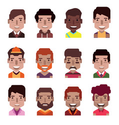 set 12 avatar icons 02 vector image