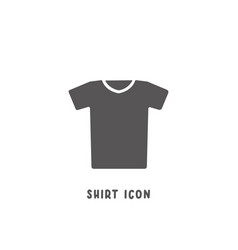 shirt icon simple flat style vector image