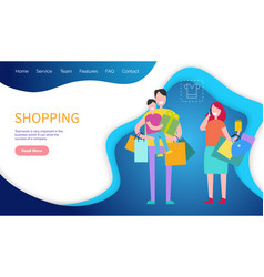 shopping teamwork important world business vector image