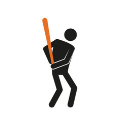 Simple baseball sport figure symbol graphic vector