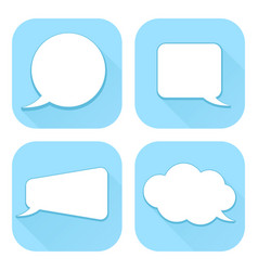 speech bubbles blue web icons with blank signs vector image