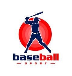 sports baseball logo design vector image