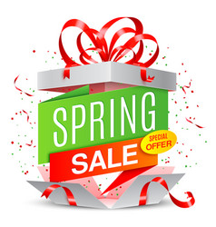 spring sale announcement vector image