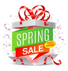 Spring sale announcement vector