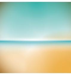 Summer beach troopical sunset sand sea icon vector