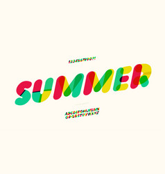 summer font colorful style modern vector image