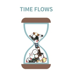 Time Flows Concept vector