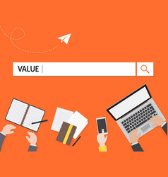 value search graphic for business vector image