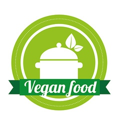 vegan menu vector image