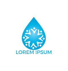 water drop people logo design vector image
