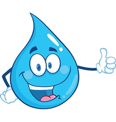 Waterdrop cartoon vector
