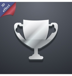 Winner cup icon symbol 3D style Trendy modern vector