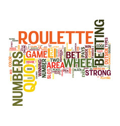 your guide on how to play roulette text vector image