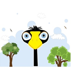 cartoon black bird vector image