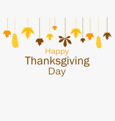 happy thanksgiving day greeting card template vector image vector image