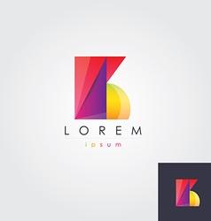 letter B colorful design element vector image