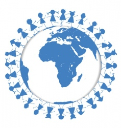 world children vector image