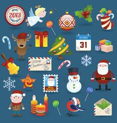 Christmas set2013 vector image