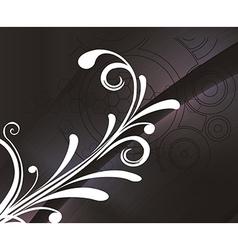 Floral retro background vector image vector image