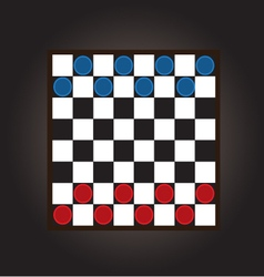 thai checkers board vector image