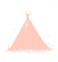 beautiful dress pink on hangers vector image