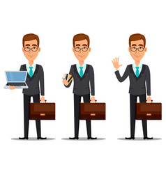 business man cartoon character vector image vector image