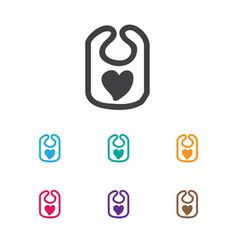 of infant symbol on bib icon vector image