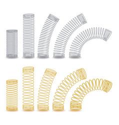 Spiral flexible wire metal spiral spring vector