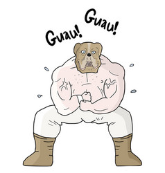 strong dog vector image