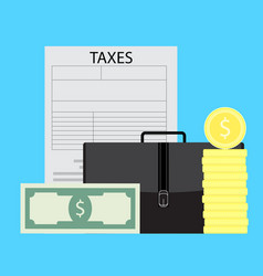 taxation of business entrepreneurs vector image