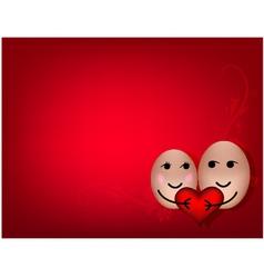 A happy couple in love vector image vector image