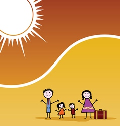 family travel color vector image vector image