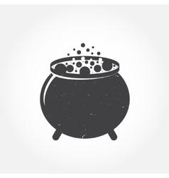 Halloween cauldron icon vector