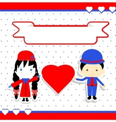 Valentines Day Couple vector image vector image