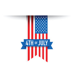 4th of july usa flag vector image