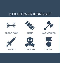 6 war icons vector