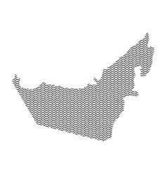 Abstract united arab emirates country silhouette vector