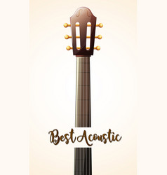acoustic guitar with word best acoustic vector image vector image