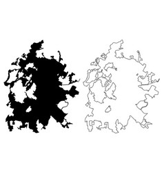 Austin city map vector