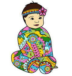 Baby-girl-colorful-Converted vector
