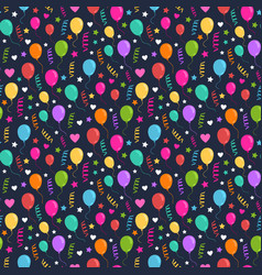 Ballons and confettihearts and starsparty vector
