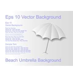 Beach umbrella on a light background vector image