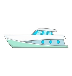 Big yacht icon cartoon style vector image