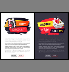 Black friday sale banner with presents in boxes vector