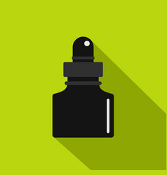 Black inkwell icon flat style vector
