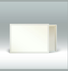 blank matchbox standing on edge isolated vector image