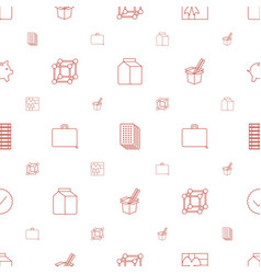 Box icons pattern seamless white background vector