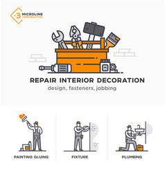 builders a new project engineer estimates vector image